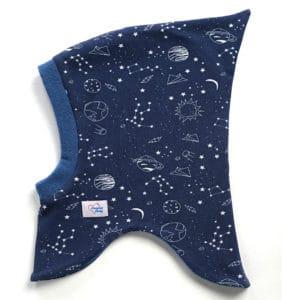 Polárral bélelt téli űrhajós sapka, Öko-tex minősítésű pihe-puha pamutanyagból,, egyedi , saját készítésű, handmade, magyar termék,